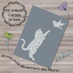 Kit carte créative grise